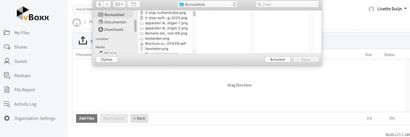 add files - vBoxxCloud