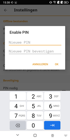 android app pin - vBoxxCloud