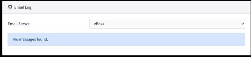 email log - vBoxxCloud