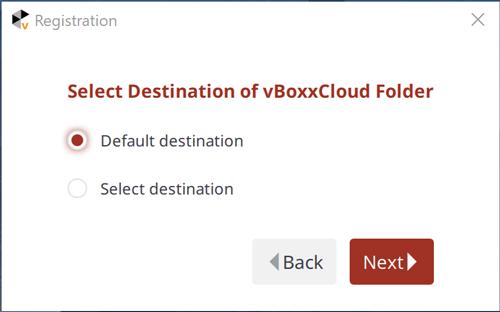 selective sync - vBoxx sync installation