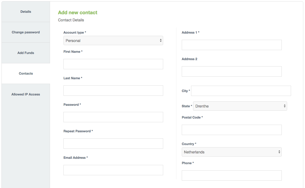 Adding Contacts in the vBoxx Client Portal - 2